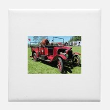 Antique / Vintage Fire Truck Tile Coaster