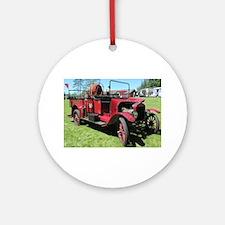 Antique / Vintage Fire Truck Ornament (Round)