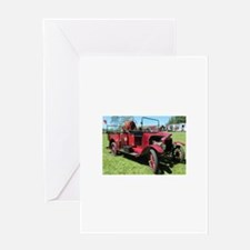 Antique / Vintage Fire Truck Greeting Cards