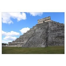 Chichen Itza Temple of Kukulcan south-west View Canvas Art