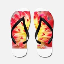 Yellow and Orange Single Bloom In The G Flip Flops