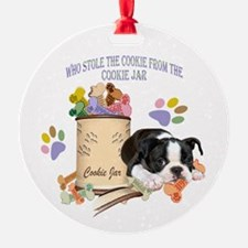 Boston Terrier Stole The Cookie Ornament