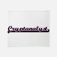 Cryptanalyst Classic Job Design Throw Blanket