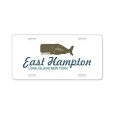 East Hampton - New York. Aluminum License Plate