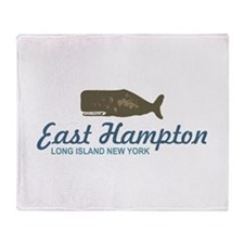 East Hampton - New York. Throw Blanket