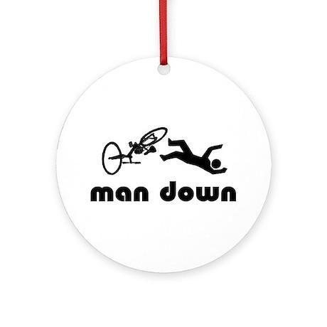 cyclist down Ornament (Round)