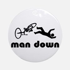 cyclist down Ornament (Round)