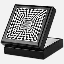 Optical Check Perspective Keepsake Box