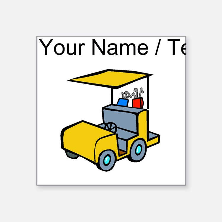 Custom Golf Cart Sticker