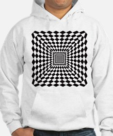 Optical Check Perspective Hoodie