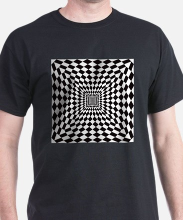 Optical Check Perspective T-Shirt