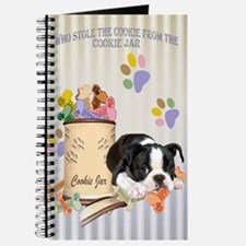 Boston Terrier Stole The Cookie Journal