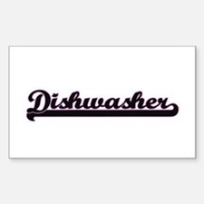 Dishwasher Classic Job Design Decal
