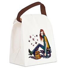 Fashion Girl Canvas Lunch Bag