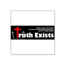 "Cool Spirit and truth Square Sticker 3"" x 3"""
