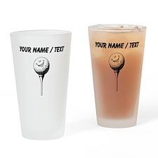Custom Cartoon Golf Ball Drinking Glass