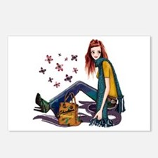 Fashion Girl Postcards (Package of 8)