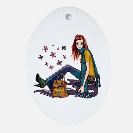 Fashion Girl Ornament (Oval)