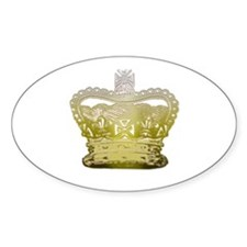 Golden Crown Oval Decal