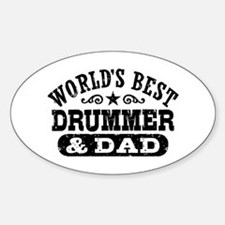 World's Best Drummer and Dad Decal