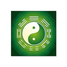 """Yin and Yang Square Sticker 3"""" x 3"""""""