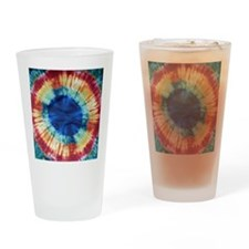 Tie Dye Design Drinking Glass