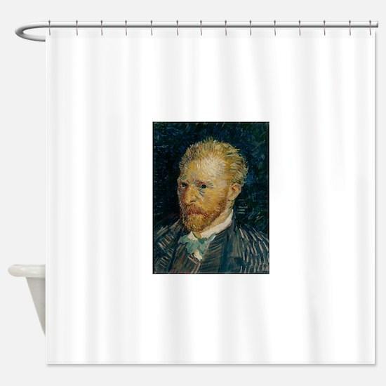 Vincent van Gogh selfie Shower Curtain