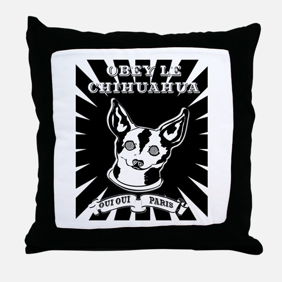 Obey Le Chihuahua Throw Pillow