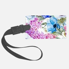 Chic Watercolor Floral Pattern Luggage Tag