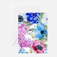 Chic Watercolor Floral Pattern Greeting Card