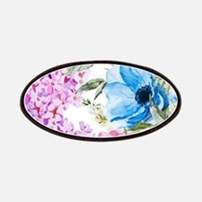 Chic Watercolor Floral Pattern Patch