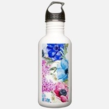 Chic Watercolor Floral Sports Water Bottle