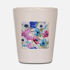 Chic Watercolor Floral Pattern Shot Glass