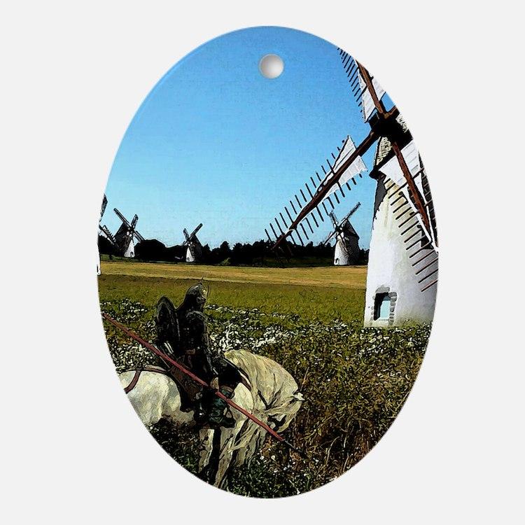 Quixote Oval Ornament