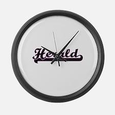 Herald Classic Job Design Large Wall Clock