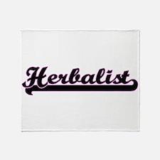 Herbalist Classic Job Design Throw Blanket