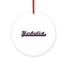 Herbalist Classic Job Design Ornament (Round)
