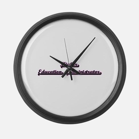 Higher Education Administrator Cl Large Wall Clock