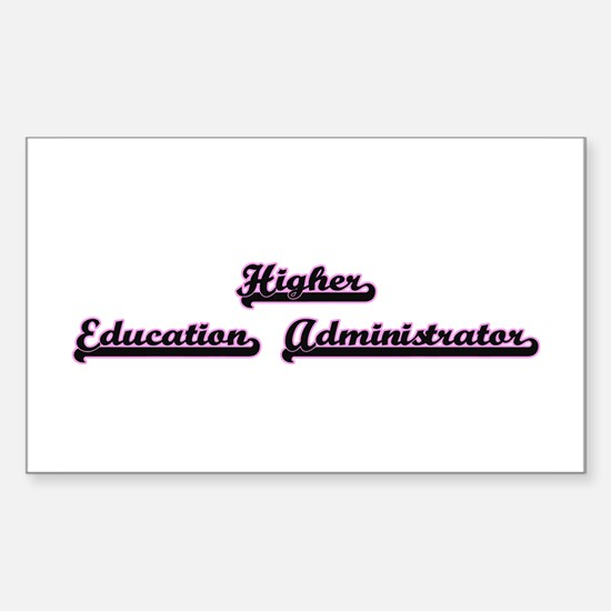 Higher Education Administrator Classic Job Decal