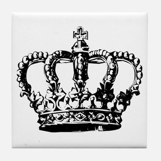 Black Crown Tile Coaster