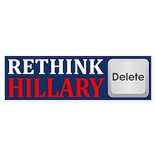 Rethink Hillary Bumper Bumper Sticker