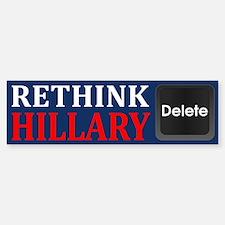 Rethink Hillary Bumper Bumper Bumper Sticker