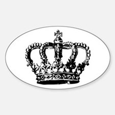 Black Crown Oval Decal