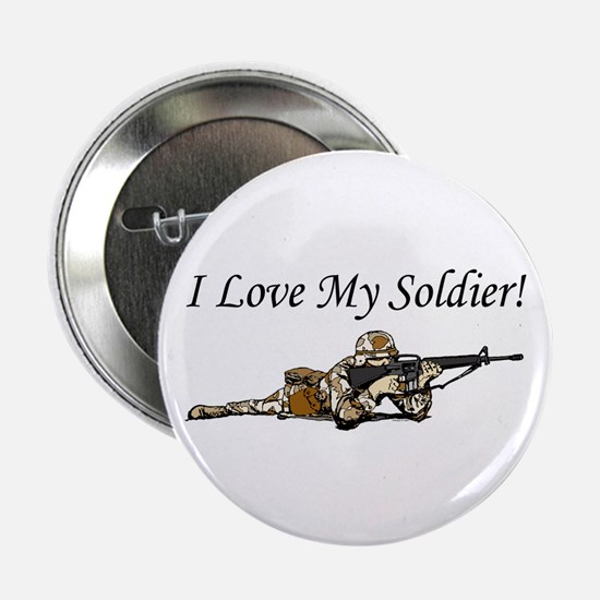 I love my soldier Army DCU's Button