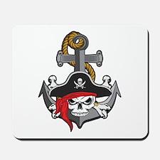 Pirate Skull Anchor Mousepad