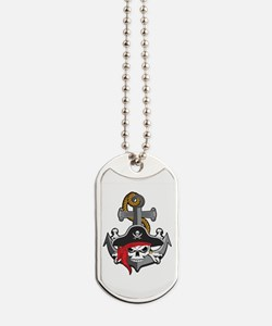 Pirate Skull Anchor Dog Tags