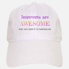 Introverts are Awesome Baseball Baseball Cap