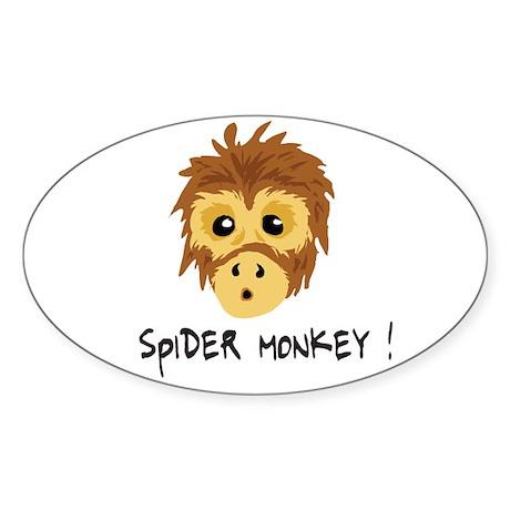 (Spider Monkey Oval Sticker