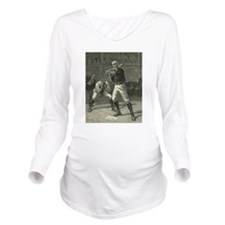 Vintage Sports Baseb Long Sleeve Maternity T-Shirt