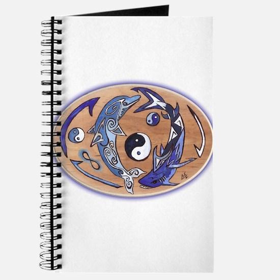 Yin Yang Dolphin Shark Journal